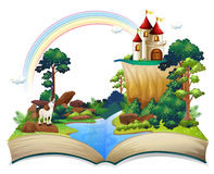book castle forest illustration white background 32709880